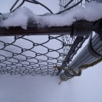 Winter Chain Link Fence in Leesburg, VA